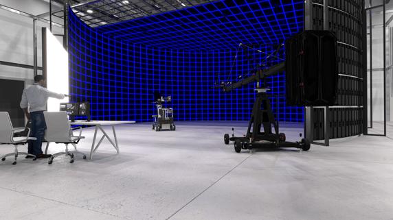 Custom dvLED virtual production studio video wall 2