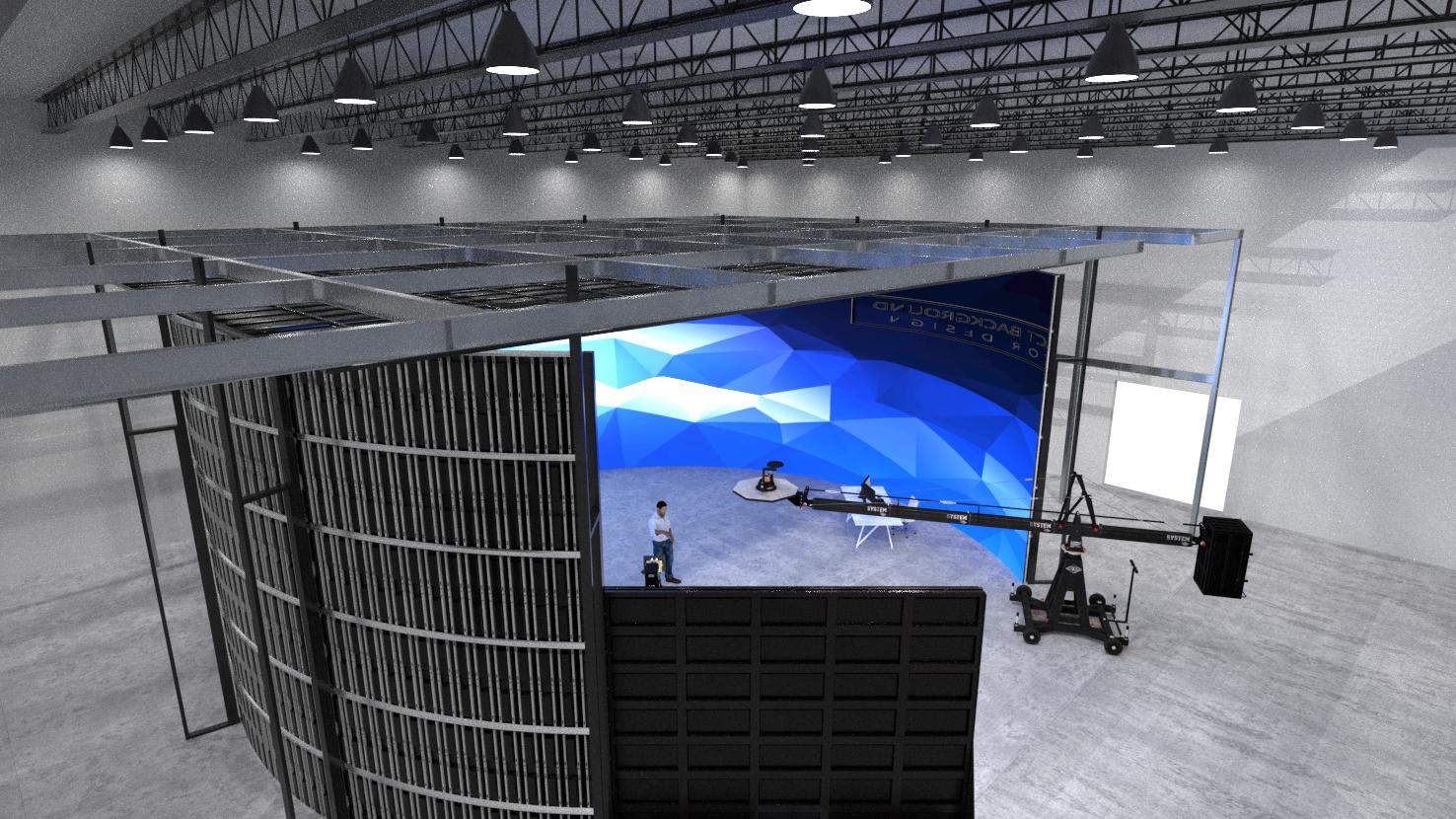 Custom dvLED virtual production studio video wall 3